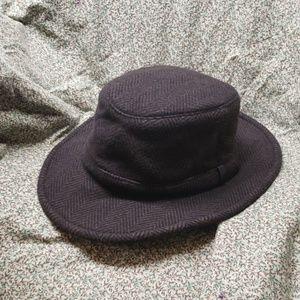 Tilley Endurables Brown Wool Winter Hat Sz 7 5/8